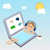 36490301-man-floating-on-the-water-in-the-laptop-use-the-social-network